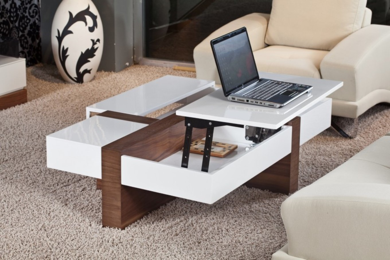 Modern Lift Coffee Table Laptop Table